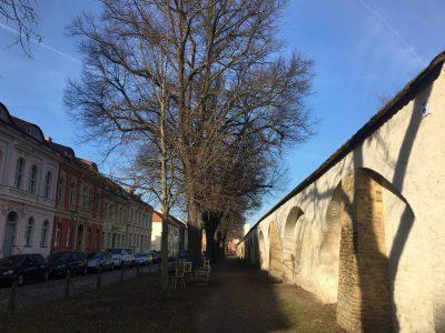 City wall on Großer Fischerstraße